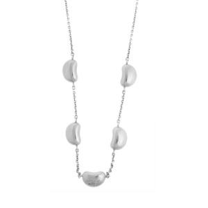 Tiffany & Co. Peretti Sterling Silver 5-Bean Necklace