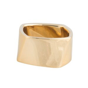 Tiffany & Co. 18k Yellow Gold Franck Gehry Torque Ring Size 7.5