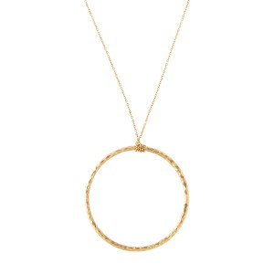 Tiffany & Co. Paloma Picasso 18K Yellow Gold Hammered Circle Necklace