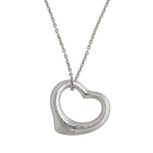 Tiffany & Co. Paloma Picasso Platinum Open Heart Necklace