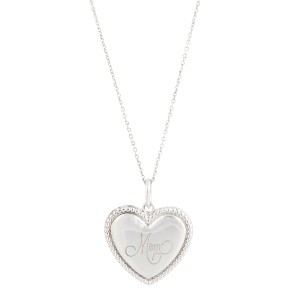 4244c27eb Sterling Silver Mom Heart Pendant Necklace | Tiffany & Co. | Buy at  TrueFacet
