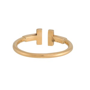 Tiffany & Co. 18K Yellow Gold T Wire Ring Size 7.5