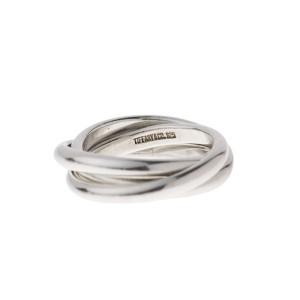 Tiffany & Co. Sterling Silver Triple Interlock Rings Size 7
