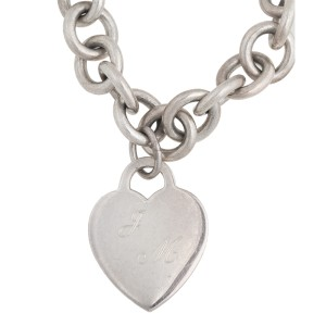 Tiffany & Co. Sterling Silver Heart Charm Necklace