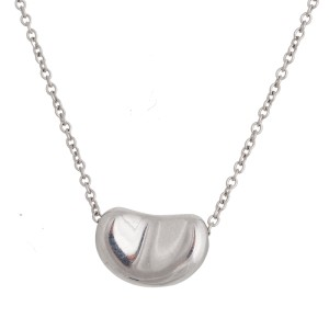 Tiffany & Co. Elsa Peretti Platinum Bean Necklace