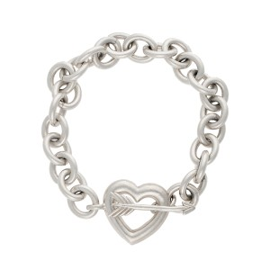 Tiffany & Co Sterling Silver Heart and Arrow Toggle Bracelet