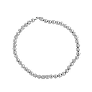 Tiffany Co Sterling Silver Beaded Necklace Tiffany Co Buy At Truefacet