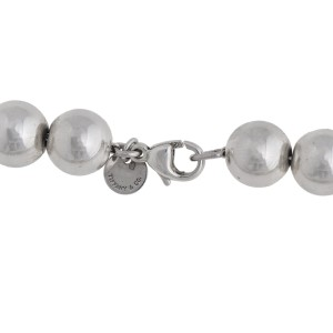 Tiffany & Co. Sterling Silver Beaded Necklace
