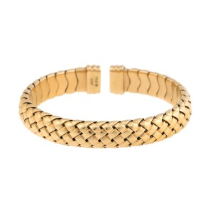 Tiffany & Co. 18K Yellow Gold Vannerie Basket Woven Cuff Bracelet
