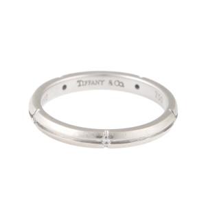 Tiffany & Co. Streamerica White Gold Ring Size 6.25