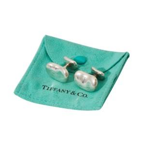 Tiffany & Co. Sterling Silver Bean Cufflinks