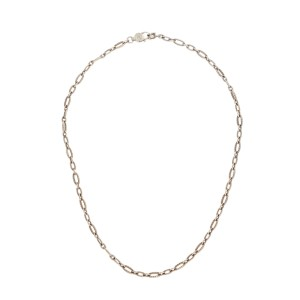 Tacori 925 Sterling Silver Oval Chain Link Choker Necklace
