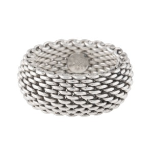 08f07347f Tiffany & Co. Sterling Silver Mesh Ring Size 7 | Tiffany & Co. | Buy ...