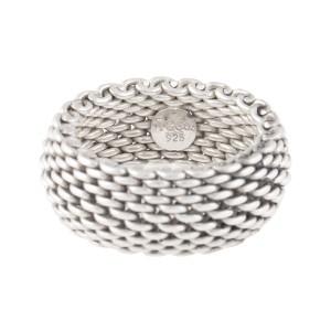 9225f2e65dab1 Tiffany & Co. Sterling Silver Mesh Ring Size 7