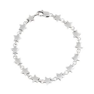 Tiffany & Co. Sterling Silver Star Link Bracelet