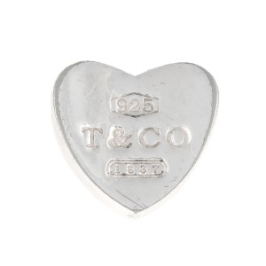 Tiffany & Co. Sterling Silver 1837 Heart Slider Charm Pendant