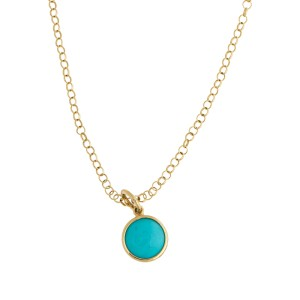 b590908b7 Tiffany & Co. 18K Yelllow Gold Paloma Picasso Turquoise Dot Charm Pendant  Necklace | Tiffany & Co. | Buy at TrueFacet
