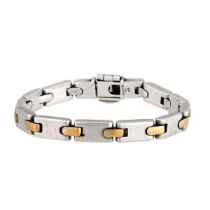 Tiffany & Co  925 Sterling SIlver & 18K Yellow Gold Link Vintage Bracelet