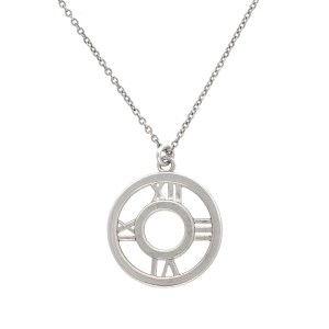 Tiffany & Co. 925 Sterling Silver Atlas Pendant Necklace