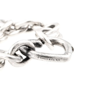 Tiffany & Co. Sterling Silver Open Heart Link Bracelet