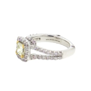 14k White Gold and 22k Yellow Gold Engagement Ring