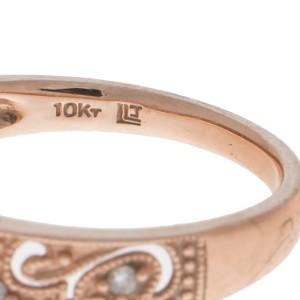10k Rose Gold Diamond Filigree Ring