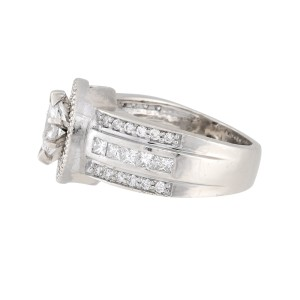 14K White Gold with 0.50ct Marquise Diamond Engagement Ring Size 7.5