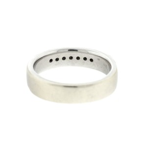 14k White Gold 0.20ct Diamond Mens Wedding Band