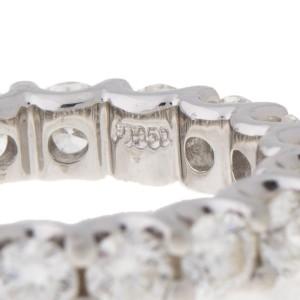 Platinum 2.65 Ct Diamond Eternity Band Ring Size 5