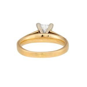 14K Yellow Gold Princess Cut Solitaire 1.01ctw Diamond Ring Size 6