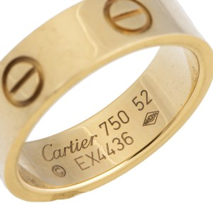 Cartier 18k Yellow Gold Love Ring Size 6