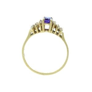 Small Oval Shaped Amethyst Ring