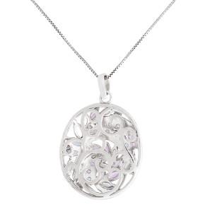 Silver 2.08 ct Cluster Tanzanite Pendant Necklace