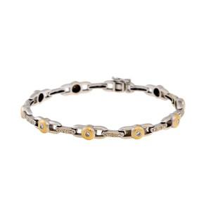 18K White & Yellow Gold with 0.50ctw Diamond Station Bracelet