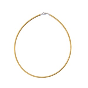 14k Yellow and White Gold Reversible Choker Necklace