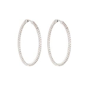 14K White Gold 1.50ctw Diamond Earrings