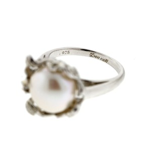 Sterling Silver Pearl Flower Basket Ring