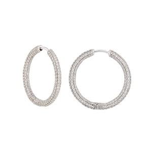 14K White Gold 3.50ctw Diamond Earrings
