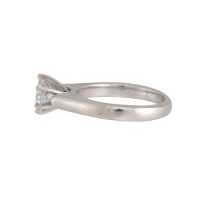 18K White Gold with 0.72ct. Diamond Engagement Ring Size 4.25