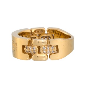 14K Yellow Gold with Diamonds Valentino Rudy Ring Size 6