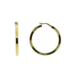 Large Gold Plated Round Hoops