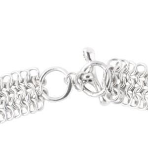 Versani Sterling Silver Mesh Link Necklace