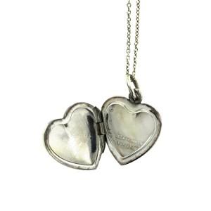Tiffany & Co. Rare Sterling Silver Locket Pendant Necklace