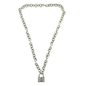 Tiffany & Co. Sterling Silver Padlock Link Necklace
