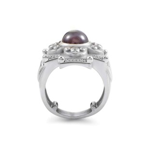 Kieselstein-Cord 18K White Gold Tourmaline & Diamond Ring