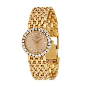 Baume and Mercier Gold and diamond Ladies Watch