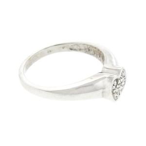 14K White Gold and Diamond Heart Shape Ring