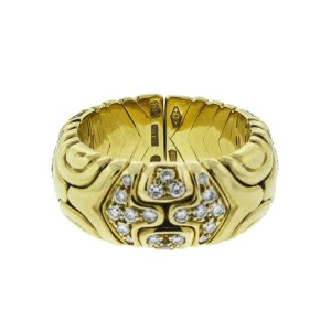Bulgari 18K Yellow Gold Diamond Ring