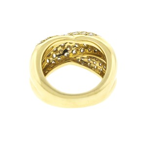 Cartier 18K Yellow Gold and Diamond Ring Size 4