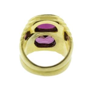 Bulgari 18K Yellow Gold Pink Sapphire Tubogas Ring